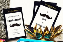 Mustache Bash / Join the newest party trend and throw a bash with the theme of a stache!   / by Personalized HERSHEY'S® Chocolate Bars & Wrappers by WH Candy