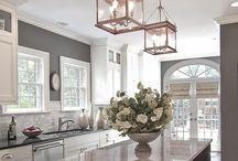 Kitchens I Love / Kitchen design, kitchen cabinets, countertops, appliances, back splashes / by Becky Scott