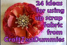 Fabric Scraps Reused / Reusing your leftovers, scraps and ends or things. / by Julie Piggott