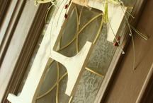 Letter door hangers / by Debbie Tocci