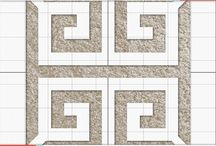 Greek Medallion / Inspiration around our Grecian-style Carpet Stencil. / by Vecco
