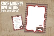 Sock Monkey Shower / by Brittney Lemons