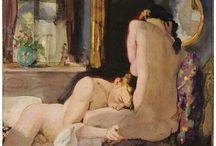 :--:  El Arte del desnudo :--: / El desnudo ha tenido desde la Antigua Grecia un marcado componente idealizador,  En palabras de Aristóteles: «el arte completa lo que la naturaleza no puede terminar. El ideal de perfección del cuerpo humano proviene de la Grecia clásica, y es constatable en todas sus obras, La base del desnudo artístico es el dibujo, la realización de un boceto o un croquis sobre cuya base se realizará . Las principales técnicas pictóricas para la realización del desnudo son la acuarela, el pastel y el óleo. / by Juana Martín