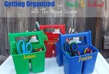 Homework/school supplies organization / by Debbie Butcher