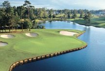 Golf | Play where every shot is beautiful. / Step to the tee among stunning mountains, rolling hills or beautiful beaches. North Carolina offers 400-plus golf courses across the state with temperatures that allow play year-round.  / by Visit North Carolina