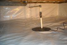 Crawl Space Vapor Barrier / Crawl Space vapor barriers.  http://www.indianacrawlspacerepair.com/vapor-barrier/ / by Indiana Crawl Space Repair