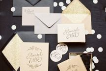 Black & Gold Wedding Inspiration / Classy, elegant and glamourous!  / by Madeline's Weddings & Events