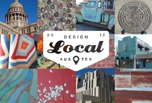Design Local Austin / TEAM AUSTIN came up with coordinating patterns as big, and beautiful, as their home state. Inspired by the color of earth and landmark neighborhoods. Halftones, screenpringting and rusting corrugated metal:  the happy accidents of nature's hand on the built environment.  www.manningtondesignlocal.com / by Mannington Commercial