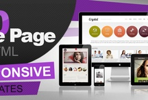 10 One Page HTML Responsive Web Templates Bundle for Only $17 / by FlashMint - Flash Website Templates