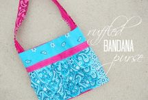 Bandana hand bag / by Debby Morgan