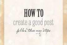 Blogging tips / by Janet Hodnett