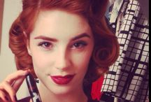 Pin up clothes and hair styles / by Stephanie Smith