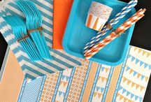 PARTY ON: Orange & Blue / by Tiffany Benson <PaperLaneDesign>