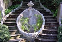 Stairways & Paths / I love everything about stairs, except climbing them.  / by Lizz Morgan