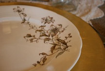 Just Plates / Some of our place settings of mis-matched china. / by The Vintage Chicks China Rental