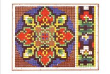 Berlin Woolwork - Geometric and Abstract Patterns / The smaller abstract patterns were sometimes used in strip samplers, but were also used for a wide variety of projects. / by Laura Jones