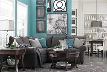 """House Decorating Ideas / Couches, pillows, paints, and decorating styles and tips that I think are awesome! 'Love this style!""""  """" That's so cute!""""  """"I want that!""""  """" Super Cute!""""  These are all the things that I like for house decorating! / by Mikala Waters"""