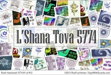 Rosh Hashanah 5774 eCards / Jewish New Year 5774 eCards / Rosh Hashanah aka the Jewish New Year is the holiest time of the Jewish faith. Say It With eCards (Judaic Greetings) at http://www.SayItWithEcards.com offers a unique and tastefully-designed elegant collection of approximately 200 Rosh Hashanah eCards in a variety of categories you WILL NOT find elsewhere.  I'm not just saying this, you won't find them elsewhere because I designed them.  Questions, don't hesitate to ask.  Contact info on site! / by Say It With eCards Judaic Greetings - Jewish
