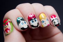 "Character nails / by Stephanie ""Packrat"" Whitfield"