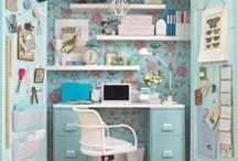 CRAFTING SPACE / Craft Room Organization&Decor / by Jamie Lindow