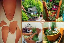 Terracotta Fairy Gardens / Everyone seems to have broken terracotta pots that they can't bear to throw away - use them to make a miniature garden... / by Drought Smart Plants