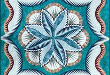 Fire Island Hosta Queen / For more information about the Fire Island Hosta Queen pattern, visit http://www.quiltworx.com/patterns/fire-island-hosta-queen/. To be taken directly back to this pattern page on Quiltworx.com, simply click on any of the images below.  / by Quiltworx Judy Niemeyer