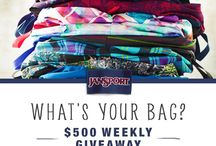 $500 Weekly Giveaway feat. Your Favorite JanSport Superbreaks / Welcome to the eBags $500 weekly giveaway! This board features the best JanSport Superbreaks as voted by you from our Facebook page! The contest begins today, 7/26 and ends on August 23rd! Vote now for your chance to win $500 weekly! http://bit.ly/15QMiB0! / by eBags