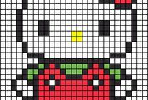 Kawaii Cross stitch patterns / by Kyra Wilson