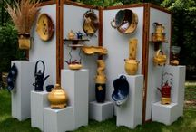 Display setups for retail and art fairs / by Sharon Hutson Hurricane Pottery