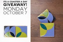 Fireclay Coaster Giveaway! / Every now and again we giveaway a set of coasters for a whole week, even more! Here is where we share our coaster creations.  / by Fireclay Tile