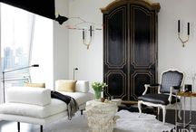Color: Black and White Rooms I Love / by Lindajane Keefer