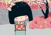 Kokeshi: So kawaii! / Konnichiwa! Welcome to the world of Kokeshi. Little dolls in a big, bright world. Inspired by the books, journals, and stationery of Annelore Parot. http://www.chroniclebooks.com/kokeshi/ / by Chronicle Books