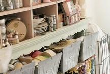 crafty organizing / by Scrap It Girl, Kimberly Congdon