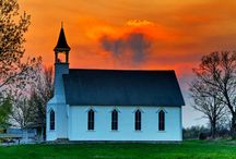 """For The Church / """"For Thy church that evermore lifteth holy hands above"""" Every time I see a church building, I wonder if it's a just a place where men gather or if the """"true church"""" of God & His Spirit meet there. / by Karen Swanger"""