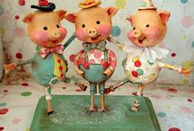 Crafts: Papier Mache and Paper Clay Pretties / Little lovelies made of papier mache and paper clay. / by Christi