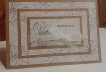 Secret Garden-Stampin Up / Cards featuring Secret Garden stamp set and framelits / by Sue Richardson