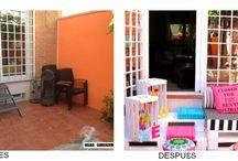 DYS- CON PALES Y CAJAS DE MADERA / by Mi rincón de sueños
