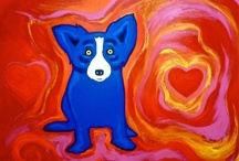 Blue Dog Art George rodrigue / by Lillie Ray Levy