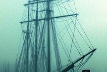 The sea gives, the sea takes away. / Nautical. Buoyant. Sails. Tides. / by Cara Fazio