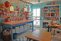 Art~Scrapbook~Craft Studios / Art Studios, Craft Rooms, Scrapbooking Rooms, Design Studios / by Lady Rosabell