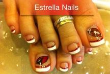 Crazy fun nails / Nails for fun days, sport days, holidays! / by Tonya Davidson