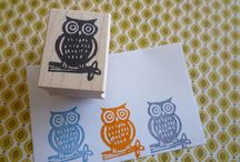 Rubbermoon Stamps / Awesome, Wood Mounted Red Rubber Stamps! / by Kristen Powers