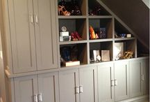 built-in, custom, modular, upcycle / Built-in furniture, cabinetry & shelving / by shelleyorama