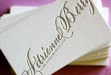 Calligraphy business cards I love / by English Wedding Blog