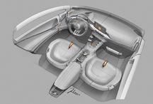 Car Interior sketches and Pictures / by Patrick Andrade