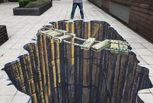 Fantastic 3D Street Art / I love art that is unique and evokes an emotion!  These artists manage to do it with chalk and a piece of sidewalk or side of a building.  Sometimes it's startling - sometimes humorous, but always amazing! / by Jan Arnold