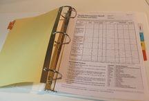 Organization BINDERS / by Stacie Smith-Ocker