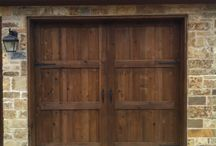 Wood and Iron Carriage House Doors / Custom Hand Crafted Wood Doors & Iron Doors / by Texas Overhead Door