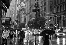 The City in Black and White / by Dena Sand