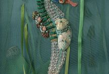 Crazy quilts and embroidery / Crazy quilts and fancy stitches / by Gloria